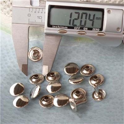 T1205 Flat Rivets(iron/brass) 12mm 1000pcs/bag