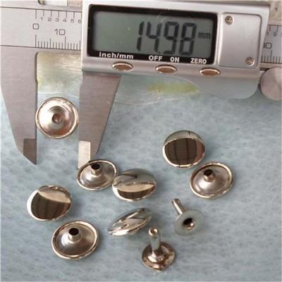 T1555 Flat Rivets(iron/brass) 15mm 1000pcs/bag