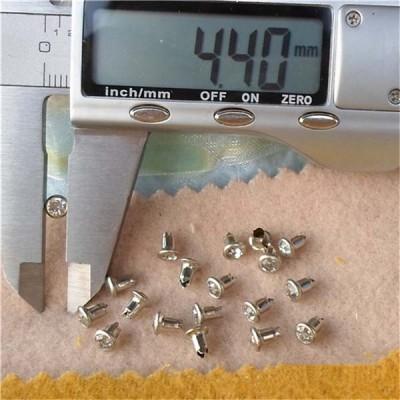 T4555 Rhinestone Brass A Diamond Rivets 4.5mm 1000pcs/bag