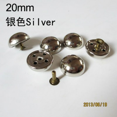 X2010 Dome Rivets(iron/brass) 20x10mm 100pcs/bag
