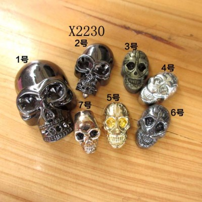 X2230 Metal Skull Studs 21x32mm 100pcs/bag