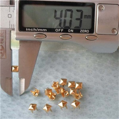 A001 Gold Pyramid Studs(iron/brass) 4x2mm 1000pcs/bag
