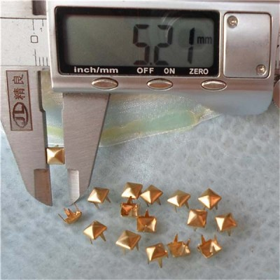 A002 Pyramid Studs Wholesale(iron/brass) 5x2mm 1000pcs/bag