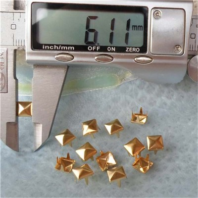 A003 Brass Pyramid Studs(iron/brass) 6x2mm 1000pcs/bag