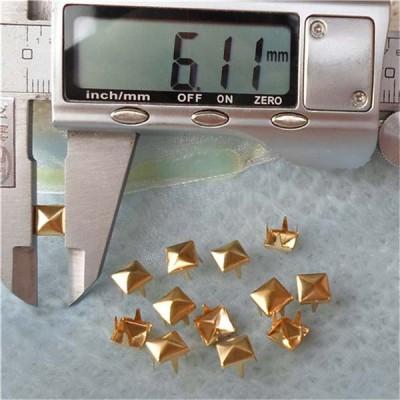 A003 Brass Pyramid Studs(iron/brass) 6x2mm 1000pcs/bag