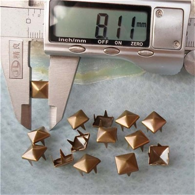 A005 Pyramid Studs(iron/brass) 8x3mm 1000pcs/bag