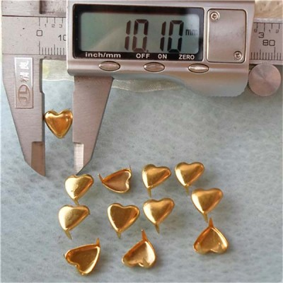 A016 Heart Studs(iron/brass) 10x10mm 1000pcs/bag