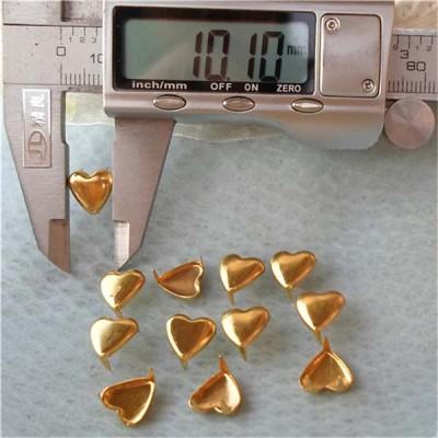 A016 Heart Studs(iron/brass) 10x10mm 1000pcs/bag