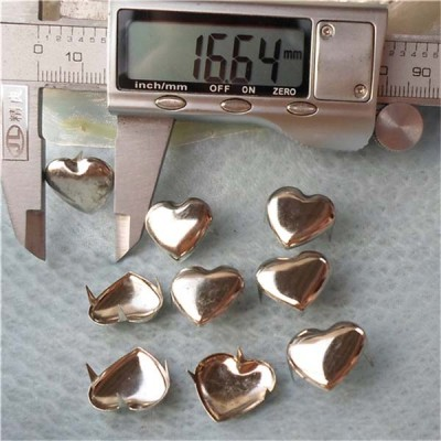 A017 Heart Studs(iron/brass) 17x15mm 1000pcs/bag