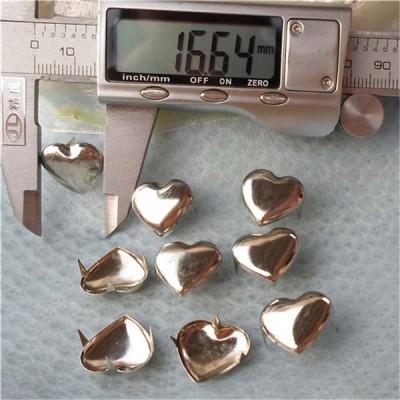 A017 Heart Studs(iron/brass) 17x15mm 1000pcs/bag