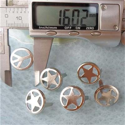 A032 Metal Pentagram Studs(iron/brass) 16mm 1000pcs/bag