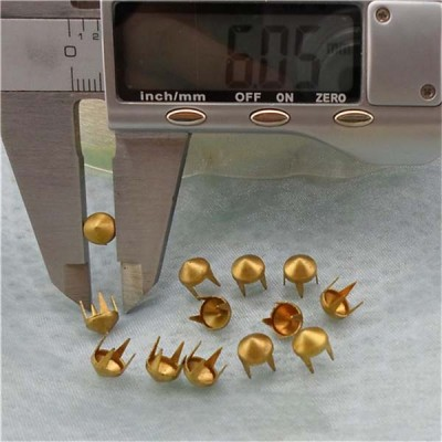 A033 British Cone Studs( iron/brass) 6x3mm 1000pcs/bag