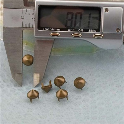 A035 Cone Studs And Spike Plastic For Bags (iron/brass) 8x5mm 1000pcs/bag