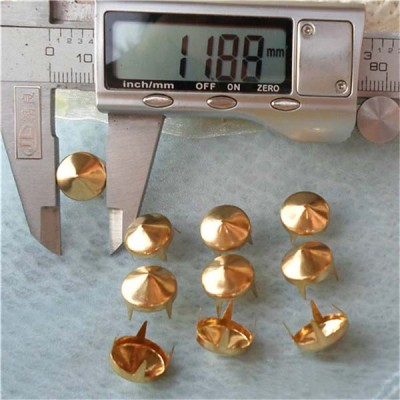 A037 Pack of Cone Studs(iron/brass) 12x5.5mm 1000pcs/bag