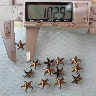 A041Five-Claws Pentagram Studs(iron/brass) 10mm 1000pcs/bag