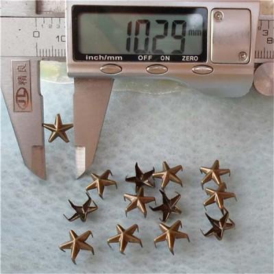 A041Five-Claws Pentagram Studs(iron/brass) 10mm 1000pcs/bag