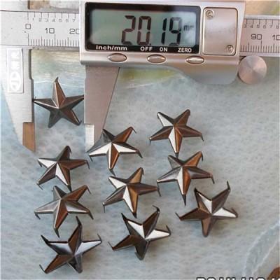 A044 Iron Pentagram Studs(iron/brass) 20mm 1000pcs/bag