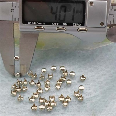 A057 Dome Studs For Garments(iron/brass) 4mm 1000pcs/bag