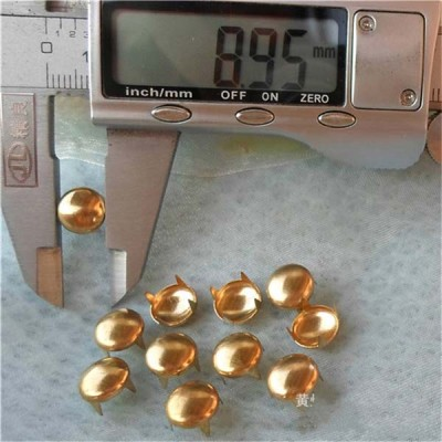 A060 Dome Studs(iron/brass) 9mm 1000pcs/bag