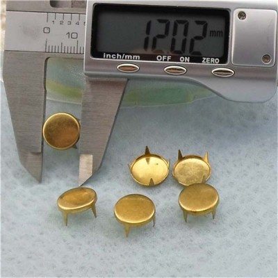 A062 Round Flat Studs(iron/brass) 12mm 1000pcs/bag