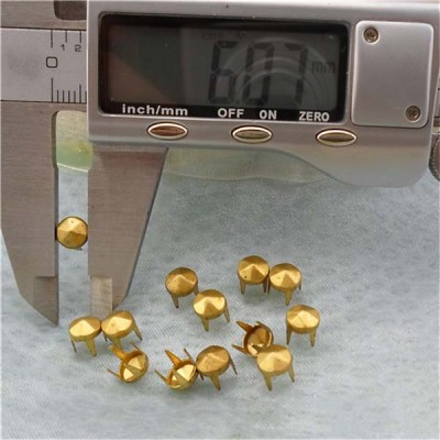A065 Six Facets Studs For Clothing(iron/brass) 6mm 1000pcs/bag