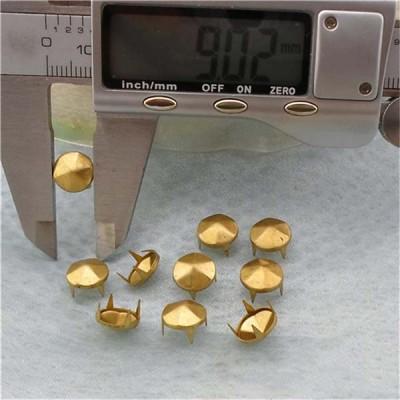 A067 Silver Six Facets Studs(iron/brass) 9mm 1000pcs/bag