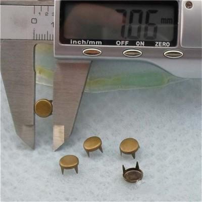 A069 Round Studs(iron/brass) 7mm 1000pcs/bag