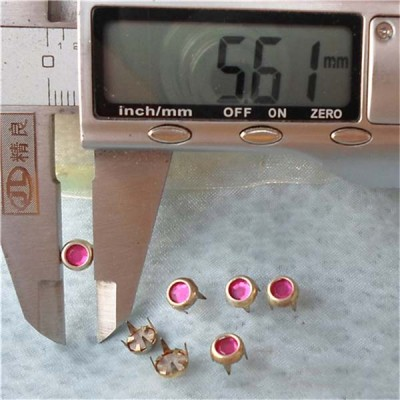 A071 Acrylic Studs(iron/brass) 5.5xmm 1000pcs/bag