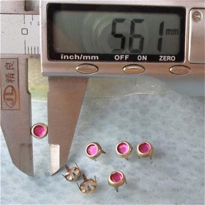 A071 Acrylic Studs(iron/brass) 5.5xmm 1000pcs/bag