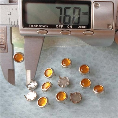 A073 Acrylic Studs(iron/brass) 7.5mm 1000pcs/bag