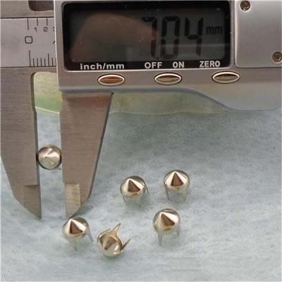 A0745 4-Prong Metal Studs(iron/brass) 7x4.5mm 1000pcs/bag