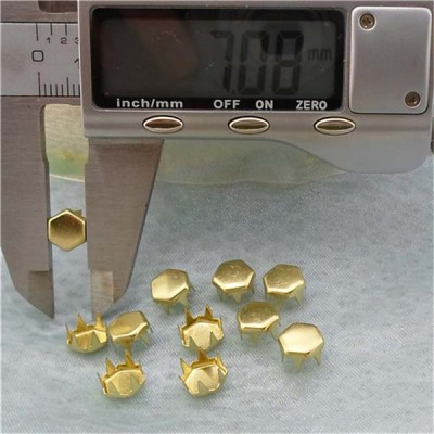 A0746 Hex Brass Studs 7x4.6mm 1000pcs/bag