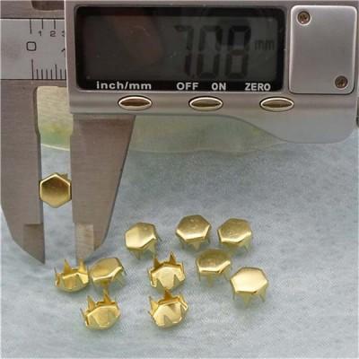 A0746 Hex Brass Studs 7x4.6mm 1000pcs/bag
