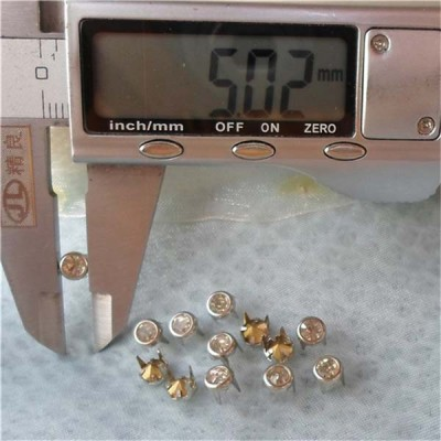 A077 Brass A diamond studs 5mm 1000pcs/bag
