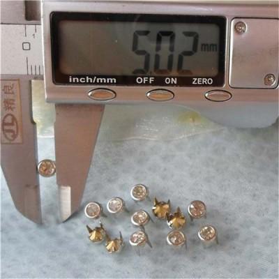A077 Brass A diamond studs 5mm 1000pcs/bag