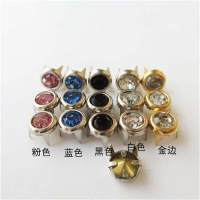 A078 Brass A diamond studs 6mm 1000pcs/bag