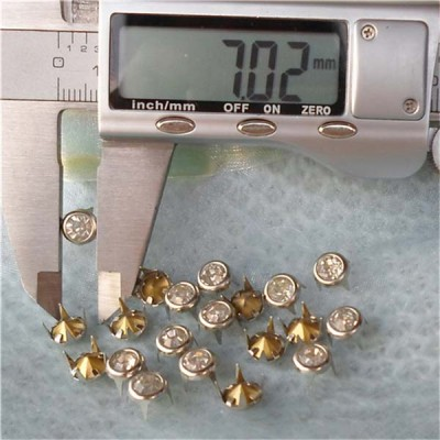 A079 Brass A diamond studs 7mm 1000pcs/bag
