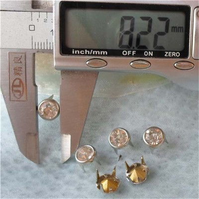 A080 Brass A diamond studs 8mm 1000pcs/bag