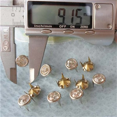 A081 Brass A diamond studs 9mm 1000pcs/bag