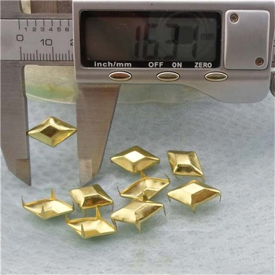 A16304 Rhombus Studs(iron/brass) 16x3mm 1000pcs/bag
