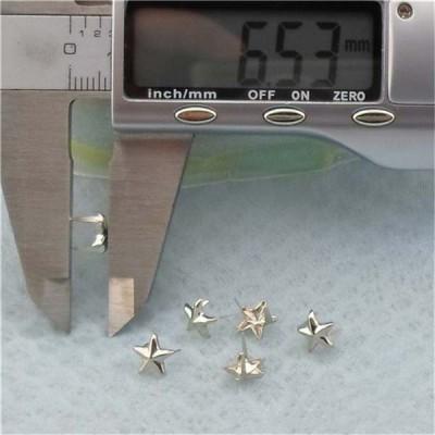 A71702 (A089)Pentagram Two Claws Studs(iron/brass) 7mm 1000pcs/bag