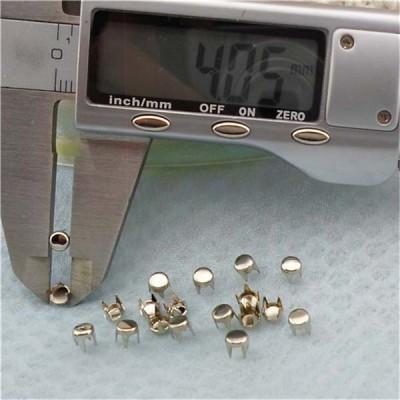 AP0404 Flat Studs(iron/brass) 4mm 1000pcs/bag
