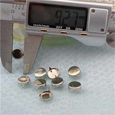 AP0902 Round Flat Studs(iron/brass) 9mm 1000pcs/bag