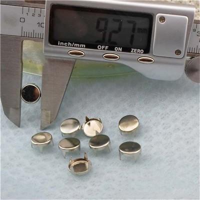 AP0902 Round Flat Studs(iron/brass) 9mm 1000pcs/bag