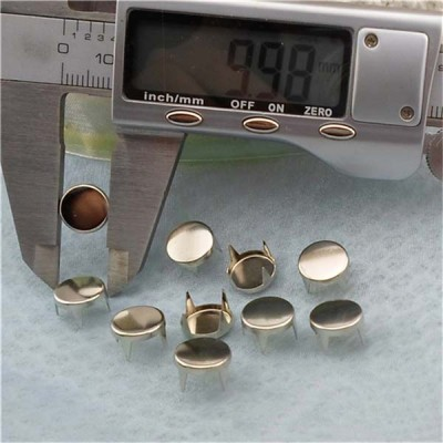 AP1002 Round Flat Studs(iron/brass) 10mm 1000pcs/bag