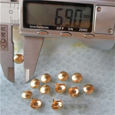 AR0702 Dome Studs(iron/brass) 7mm 1000pcs/bag
