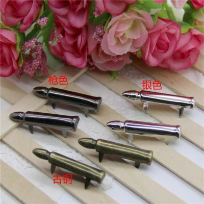 D0730 Bullet Iron Studs 7x30mm 1000pcs/bag
