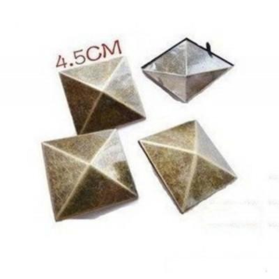 D4545 Pyramid Spikes Studs(iron/brass) 45mm 100pcs/bag