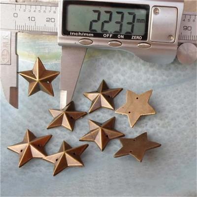 F023 Pentagram Shaped Sew Spikes 22mm 1000pcs/bag