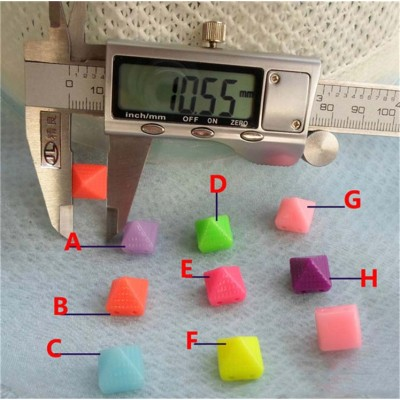 F027 Colorful Sew on Spikes 10.5mm 1000pcs/bag